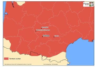 Carte zoomée sur Toulouse avec Castres (Mapa)