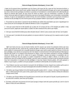 Extrait de charte de coutume (Extrèit de carta de costumas)