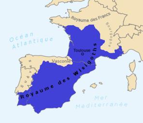 Carte du royaume (Mapa deu reiaume visigòt)
